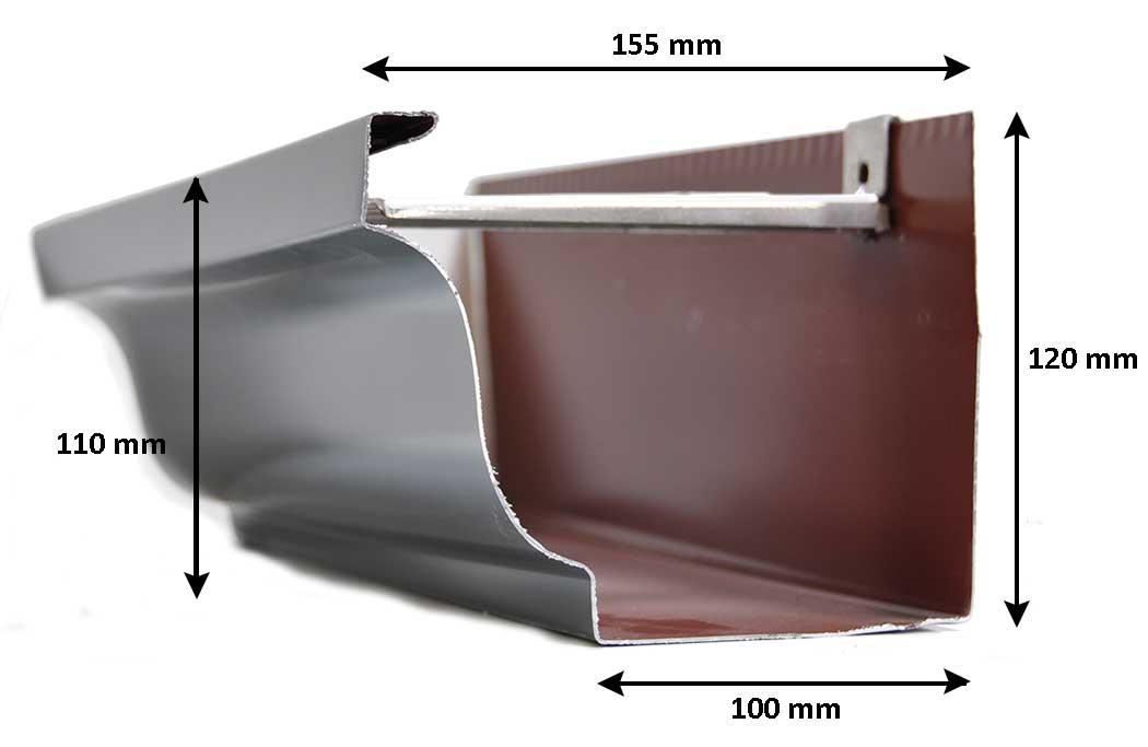 Pose de gouttière alu sans soudure sans joint